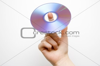 CD on the finger