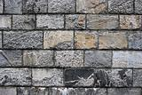 Old grunge stone wall ,close up photo