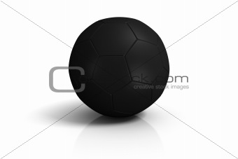 Black Soccer Ball on white background