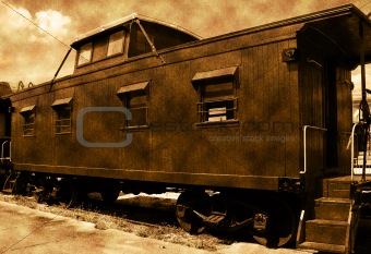 Old train caboose