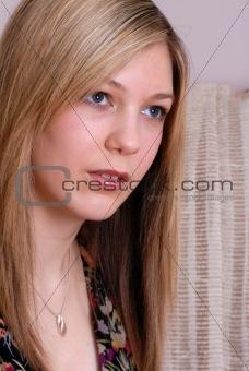 beautiful blonde teenager