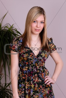 attractive cute young lady