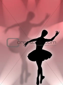 Classical dancer in the light
