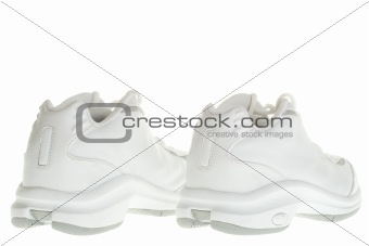 Back of basketball sneakers