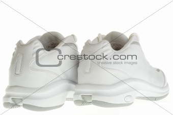 Back of a pair of Basketball shoes