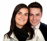 couple portrait smiling