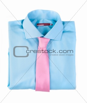 Image 781090: Blue shirt with a pink tie from Crestock Stock Photos