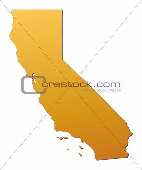 California (USA) map