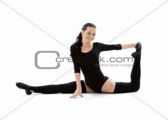 fitness instructor in black leotard #2
