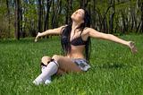 getting the spring sunbath