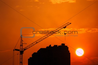 Crane & sundown