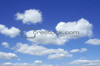 beautiful vivid sky with clouds