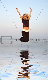 jump over water