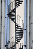 Thermal power station  spiral staircase