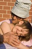 grandmother and grandchild - emotion