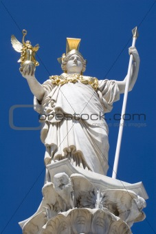 athena - foddess from fountain in vienna