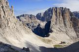 vajolet towers and bower in dolomite
