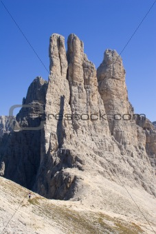 vajolet towers  in dolomite