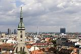 bratislava - tower of cathedral and town