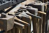 detail from smithy - hammers