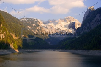 dachstein peak in sunset light