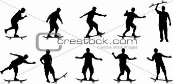 skate board silhouettes