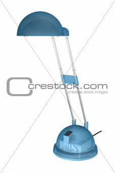 blue lamp with clipping path