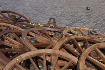 Cart wheels