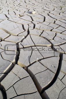 Clay in desert