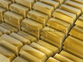gold bars steps