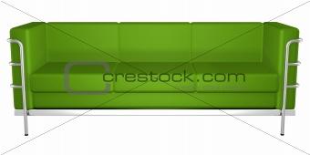 green sofa