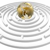 globe in maze