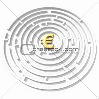 euro symbol maze