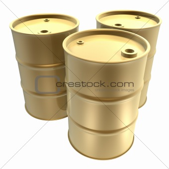 golden oil barrels