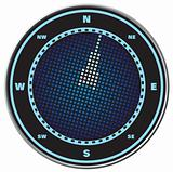 Compass digital display