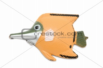 Fish magnet on white