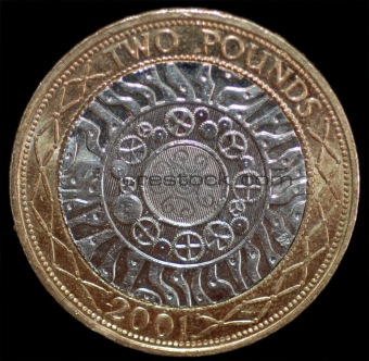 A British 2 Pound Coin