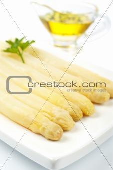 Asparagus with parsley