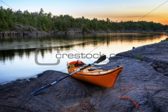 Orange Kayak