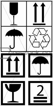 Packaging box symbols