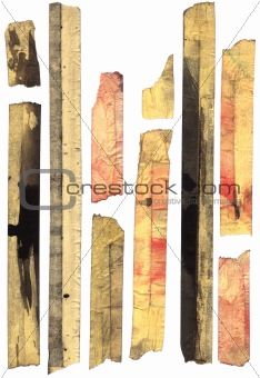 Old stained masking tape