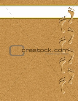 Footprints in the Sand Illustration