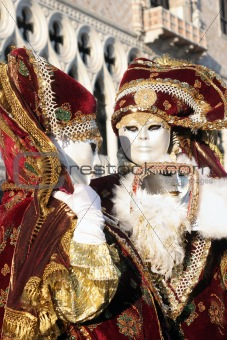 pair from venice carnival