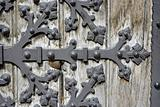 detail of gate from church in vienna - votivkirche