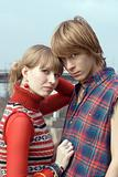 Young couple - the guy and the girl outdoor 4