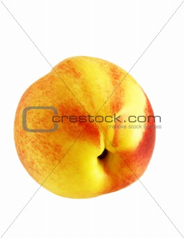 close up shot of ripe fresh nectarine