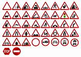 Different traffic signs
