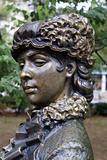Bronze woman's head