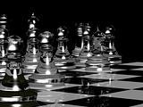 Chess Board Render In Black & White