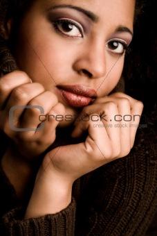 Close up african make-up